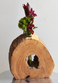 Wooden That Be Something? Vase.  #brown #wedding #modcloth