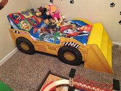 Tonka bed for a paw patrol room