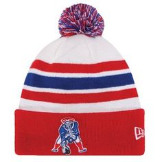 83da4fc9e629c Official New England Patriots ProShop - Youth New Era Throwback 2013 On  Field Knit Hat