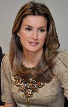 Está linda a princesa Letizia da Espanha