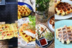 5 przepisów z gofrownicy - Madame Edith Food And Drink, Healthy Recipes, Meals, Cooking, Breakfast, Diet, Waffles, Essen, Kitchen