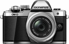 Olympus - OM-D E-M10 Mark II Mirrorless Camera with 14-42mm Lens - Silver - Front_Zoom