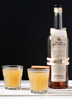 Bourbon Cider Cocktail with Cinnamon  Ginger Simple Syrup