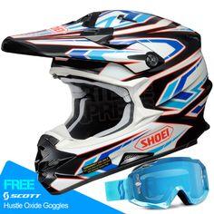 2015 Shoei VFXW Helmet in Blockpass TC2 part of the huge Motocross Helmet range at www.dirtbikexpress.co.uk. Order online now for Free UK Delivery.