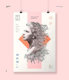 Identidad gráfica para un Festival de Cine Surrealista. Proyecto realizado para la materia Diseño Gráfico III, cátedra Gabriele.FADU | UBA | 2015