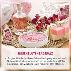DIY Rosenblütenbadesalz - Wellness, Entspannung, Erholung...was kann es nur Schöneres geben? Noch mehr Entspannung gibt es in unserem mydays Shop.