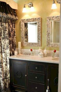 New Bath Room Country French Vanities 48 Ideas French Decor, French Country Decorating, French Interior, Country French, French Country Curtains, Vintage Country, Casa Mix, Country Style Bathrooms, French Country Bathroom Ideas