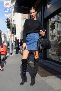 Milan Fashion Week September 2017 - Instagram :paolo_fashionstreet New York Fashion, Latest Fashion Trends, Milan Fashion, Trending Fashion, Fashion Bloggers, Street Fashion, Modest Fashion, Fashion Outfits, Womens Fashion