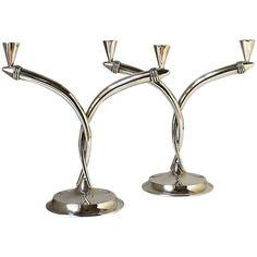 Sunny Candelabro In Silver Fine Workmanship Candlesticks & Candelabra