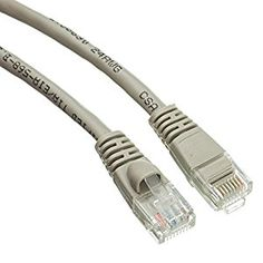SkuBros Cat5e Gray Ethernet Patch Cable, Snagless/Molded Boot, 6 inch - Unlimited Slim Run Bulk Shielded Double Flat Booted Connecter Lan Network Wire  Cat5e Ethernet cables of the 1/2 foot length are typically used in server/network rooms for plugging between patch panels. This is not to say one cannot use them for other purposes such as connecting a Cable or DSL modem to a router/switch in the home or office.  This particular cable is a gray UTP (Unshielded Twisted Pair) patch cable with m