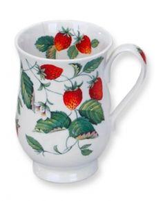 Roy Kirkham Alpine Strawberry (Lancaster) Coffee Mug Tea Mugs, Coffee Mugs, Alpine Strawberries, English Shop, Shops, China Mugs, Porcelain Ceramics, Lancaster, Bone China
