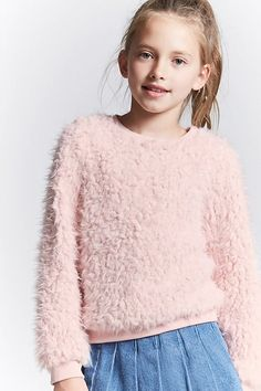 Girls Faux Fur Sweater (Kids) | Forever 21