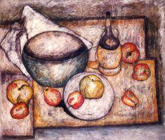 Tadeusz Makowski - Still Life with bowl and fruit