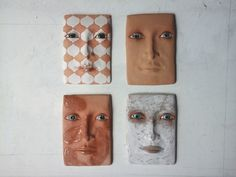 Ceramic wall sculptures available now on Etsy.
