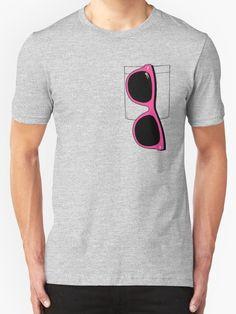 """Pink Glasses"" T-Shirts & Hoodies by Royi Berkovitz | Redbubble"