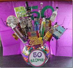 Birthday Gift Ideas These are some great ideas & inspiration for a birthday gift. These are great prank or gag gifts for anyone turning They will surely get a good laugh. Moms 50th Birthday, 50th Birthday Gag Gifts, Birthday Fun, 50th Birthday Ideas For Women, Birthday Quotes, Homemade Birthday, Birthday Woman, Birthday Images, Birthday Greetings