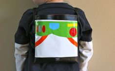 Buzz Lightyear bag.  Converts from a back pack to a cross body bag.