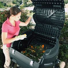 Composting (In the photo: Lifetime 80 gal. Sustainable Gardening, Organic Gardening, Gardening Tips, Organic Fertilizer, Garden Compost, Greenhouse Gardening, Compost Tumbler, Thing 1, Grow Your Own Food