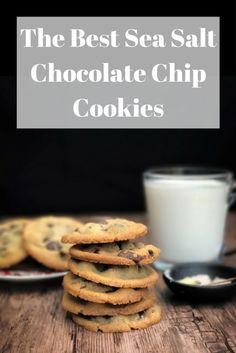 The Best Sea Salt Chocolate Chip Cookies- More recipes at Sugarandblossom.com