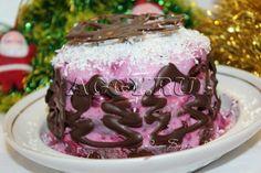 """Новогодний торт """"Зимняя вишня"""""""
