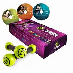 Zumba Fitness Exhilarate Body Shaping System DVD Set   Toning Sticks