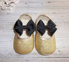 Black and Gold Baby Outfit Black and Gold by SweetBabyGirlShoppe