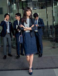 Office Fashion, Work Fashion, Skirt Fashion, Fashion Outfits, Womens Fashion, Office Outfits, Fall Outfits, Simple Work Outfits, Japanese Fashion