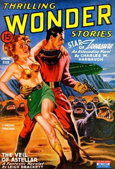 Last week, we talked about how science fiction cover art evolved into the colorful, pulpy art we love today. Now, here's our look at the evolution of cover art from 1930 to as pulp styles exploded into awesomeness. Science Magazine, Pulp Magazine, Magazine Covers, Magazine Art, Science Fiction Magazines, Science Fiction Art, Vintage Comic Books, Vintage Comics, Vintage Magazines