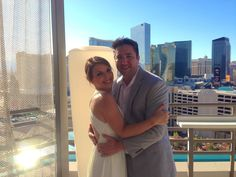 Small wedding on a balcony at MGM Grand suite…#bestlasvegasweddingofficiant #mgmgrand