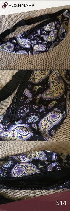 Purple Paisley PLUR Print Festival Fanny Pack!🆕😭 Brand new and in original packaging black fishnet socks! Super cute with adidas, Nike, vans, or any sneakers! Features a cute little shiny black bow in the back Brandy Melville Bags Cosmetic Bags & Cases