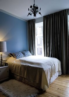 Floor to ceiling curtains - dark color to block light in living room? Floor To Ceiling Curtains, Dark Curtains, Home Bedroom, Bedroom Ideas, Master Bedroom, Bedrooms, Window Coverings, Window Treatments, Home Decor Inspiration