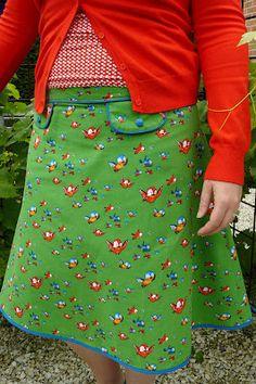 hilde@home: Zsazsa N°1 & MiesenMoos retro bird green stof