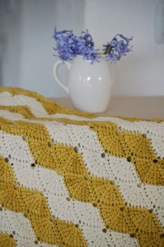 New Pattern: Tunisian Shell Shawl via cup of stitches