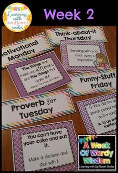 A Week of Wordy Wisdom - Week 2
