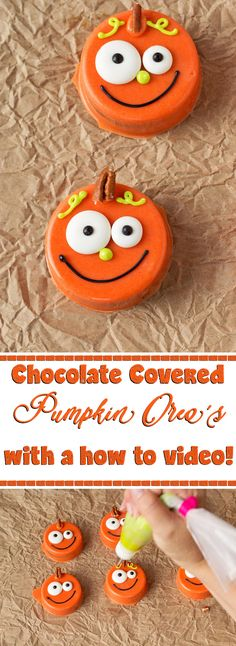 How to Make Simple Little Chocolate Covered Oreos with a How to Video | The Bearfoot Baker Fun Halloween Treats, Halloween Desserts, Halloween Cakes, Halloween Oreos, Halloween Chocolate, Halloween Goodies, Halloween Kids, Spooky Treats, Fall Treats