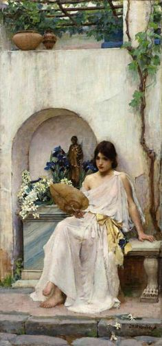 Peace ~  John William Waterhouse (1849-1917) ~ British Symbolist Pre-Raphaelite Painter