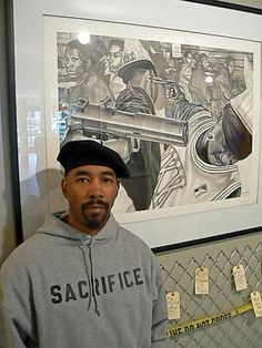 Do you think Black on Black crime is similar to the violence the KKK committed against Blacks? Artist James Pate used art to illustrate his answer.