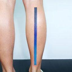 Blue gradient tattoo by Tattooist IDA