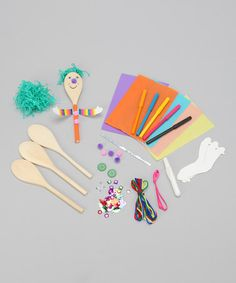 fun option for summer Take a look at this Spoon People Puppet Craft Kit by Ready 2 Learn on today! Toddler Fun, Toddler Girl, People Puppets, Fun Crafts, Crafts For Kids, Puppet Crafts, Craft Materials, Craft Kits, Craft Ideas