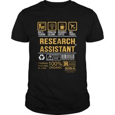 Awesome Research Assistant T-Shirt, Hoodie Research Assistant