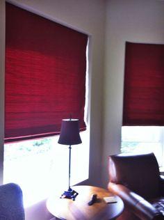Red Roman Shades