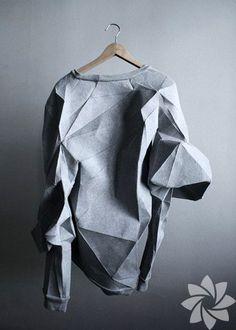 New Ideas Origami Design Architecture Wearable Art Paper Fashion, Origami Fashion, Fashion Art, Fashion Design, Fashion Trends, Fashion Outfits, Moda Origami, Diy Origami, Fashion Details