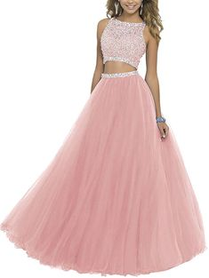 online shopping for ALW Women's Two Piece Beaded Bodice Tulle Prom Dress Cocktail Party Dress Ball Gown Homecoming Dress from top store. See new offer for ALW Women's Two Piece Beaded Bodice Tulle Prom Dress Cocktail Party Dress Ball Gown Homecoming Dress Two Piece Homecoming Dress, Prom Dresses Two Piece, Cute Prom Dresses, Prom Dresses 2016, Sweet 16 Dresses, Tulle Prom Dress, Prom Dresses Online, Two Piece Dress, Ball Dresses