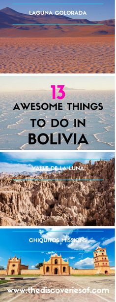 13 awesome things to do in Bolivia. Travel to Bolivia for one of the most awesome experiences in South America. From La Paz to the Salt Flats, it's an unpredictable but beautiful country. Here's the top things to do you shouldn't miss while you're there! New Travel, Paris Travel, Travel Goals, Travel Usa, Travel Luggage, Travel Hacks, Travel Tips, Cheap Travel, Budget Travel