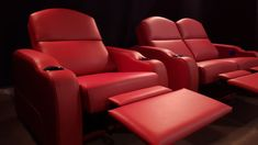 Home theaters chairs Valentino leather for luxurious custom-built theater chairs