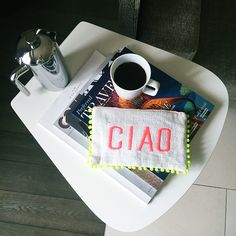 4 letters clutch by FedoraMi  Coffee and bags