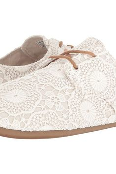 Sanuk Bianca Crochet (White/Oatmeal) Women's Lace up casual Shoes - Sanuk, Bianca Crochet, 1015892-WOTM, Footwear Closed Lace up casual, Lace up casual, Closed Footwear, Footwear, Shoes, Gift, - Street Fashion And Style Ideas