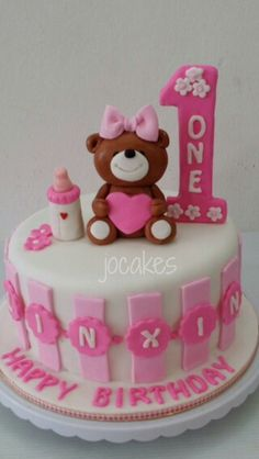1 Year Old Birthday Cake 1st