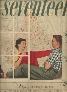 Retro 'Seventeen' magazine cover - 1950