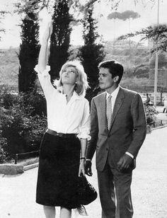 Monica Vitti with Alain Delon in L'eclisse directed by Michelangelo Antonioni, 1962
